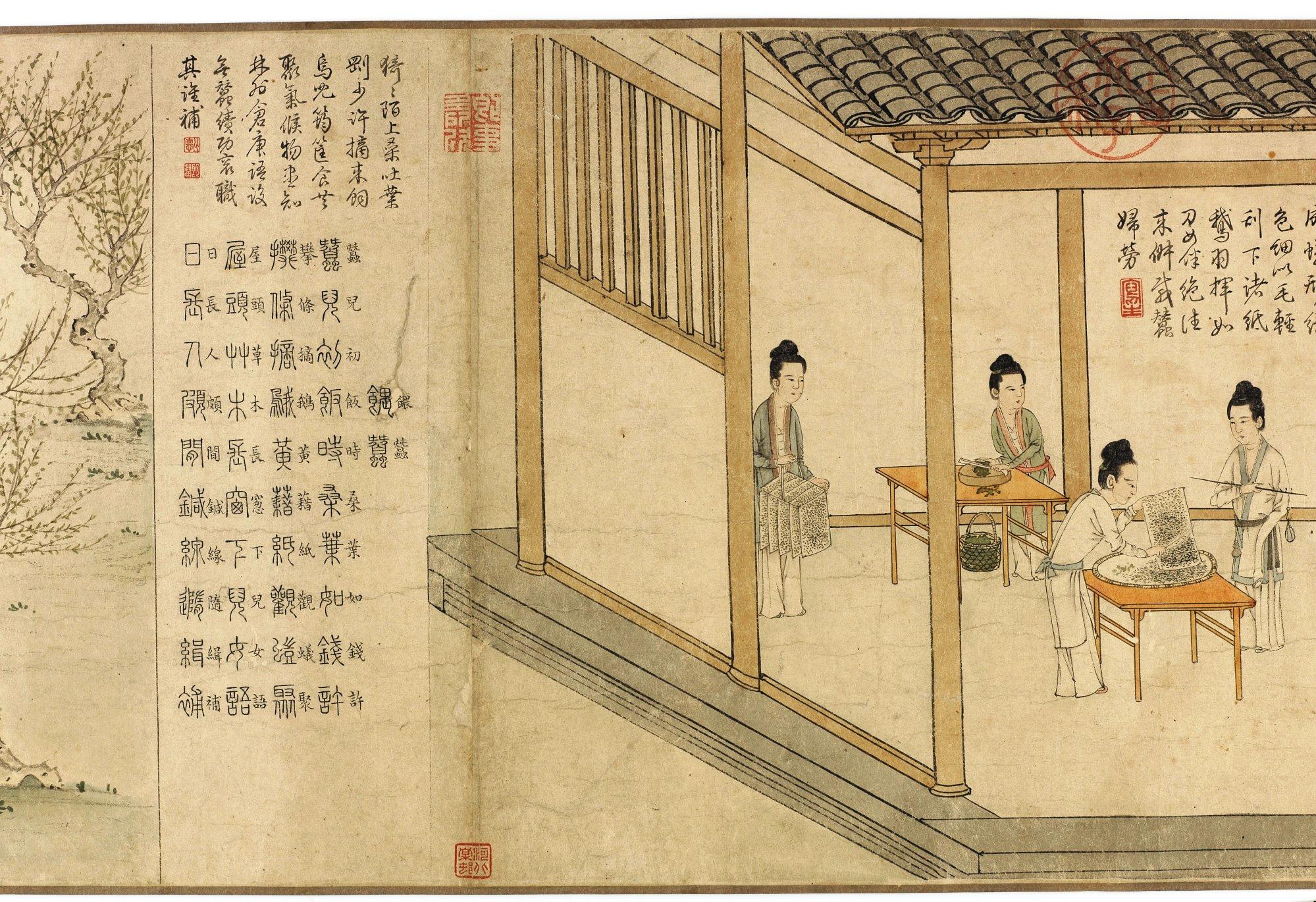 程棨摹楼寿蚕织图